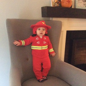 """I am not being ungrateful or sarcastic. This is a pic of my """"grandson-in-law"""" at Halloween. His Dad is a firefighter, EMT, and Paramedic."""